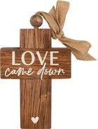 Cross: Love Came Down, Bead and Ribbon For Hanging Homeware