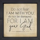 3d Texture Wall Art : I Am With You (Isaiah 41:10) (Mdf/Pine) (Vintage Praise Series) Plaque