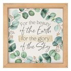 3d Texture Wall Art : For the Beauty of Earth For the Glory of the Sky (Mdf/Pine) (Vintage Praise Series) Plaque