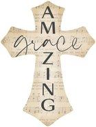 Cross Wall Plaque : Amazing Grace, Sheet Music (Mdf) (Vintage Praise Series) Plaque