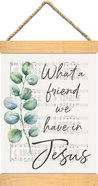 String Banner: What a Friend We Have in Jesus, Leaf and Sheet Music (Vintage Praise Series) Homeware