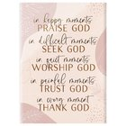 Glossy Wall Art: In Happy Moments Praise God... (Mdf/acrylic) Plaque