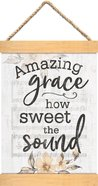 String Banner: Amazing Grace How Sweet the Sound, Sheet Music/Floral Homeware