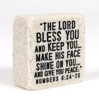 Stone Scripture Block: Blessings Engraved, Square (Numbers 6:24-26) Homeware