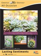 Boxed Cards: Lasting Sentiments Succulents (Kjv) Box