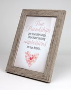 Framed Art With Easel: True Friendships (Lasting Impressions Series) Plaque