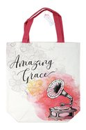Canvas Tote Bag: Amazing Grace, White/Pink Phonograph Soft Goods