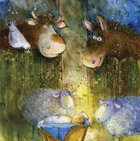Christmas Boxed Cards: Manger, Animals Cards