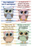 Notepad Set of 4: Owl Series Stationery
