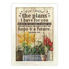 Mdf Framed Wall Art: For I Know the Plans I Have For You (Jeremiah 29:11) Plaque