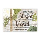 Mdf Wall Art: You Will Be Blessed When You Come in (Deuteronomy 28:6) Plaque