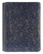NIV Life Application Study Bible Navy Floral Thumb Indexed (Red Letter Edition) (3rd Edition) Bonded Leather