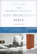 NASB Charles F Stanley Life Principles Bible Brown Thumb Index (2nd Edition) Genuine Leather
