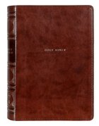 NKJV Reference Bible Brown Verse By Verse (Red Letter Edition) Premium Imitation Leather