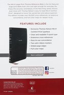 NKJV Thinline Reference Bible Large Print Black Thumb Indexed (Red Letter Edition) Premium Imitation Leather