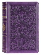 KJV Sovereign Collection Bible Personal Size Purple (Red Letter Edition) Premium Imitation Leather