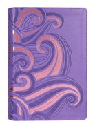 NLT Hands-On Bible Purple/Pink Swirls Imitation Leather