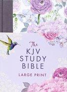 KJV Study Bible Large Print Hummingbird Lilacs (Red Letter Edition) Hardback