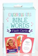 Courageous Girls Bible Words Flash Cards Cards