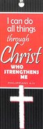 Bookmark With Tassel: I Can Do All Things Through Christ Who Strengthens Me (Phil 4:13) Stationery