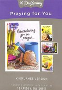 Boxed Cards Praying For You: Garden (Kjv) Box
