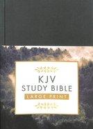KJV Study Bible Large Print Gold Spruce (Red Letter Edition) Hardback