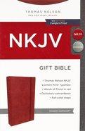 NKJV Gift Bible Cinnamon Comfort Print Premium Imitation Leather