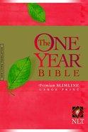 NLT One Year Bible Premium Slimline Large Print (Black Letter Edition) Paperback