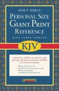 KJV Personal Size Giant Print Reference Black (Red Letter Edition) Bonded Leather