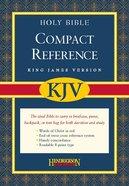 KJV Hendrickson Compact Reference Large Print Black (Red Letter Edition) Bonded Leather
