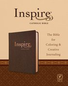 NLT Inspire Catholic Bible Dark Brown Imitation Leather