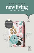 NLT Compact Zipper Bible Filament Enabled Edition Floral Garden (Red Letter Edition) Fabric