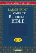 KJV Hendrickson Compact Reference Large Print Blue Flexisoft Imitation Leather