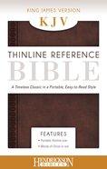KJV Thinline Reference Bible Chestnut Brown Imitation Leather