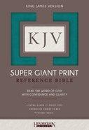 KJV Super Giant Print Thumb Indexed Reference Bible Turquoise Flexisoft Imitation Leather
