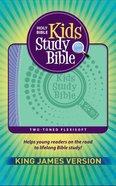 KJV Kids Study Bible Flex Purple Green (Red Letter Edition) Flexi Back