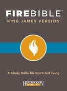 KJV Fire Bible Black Bonded Leather