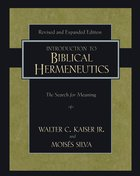 Introduction to Biblical Hermeneutics (And Expanded) Hardback