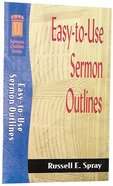 Sos: Easy to Use Sermon Outlines (Sermon Outline Series) Paperback