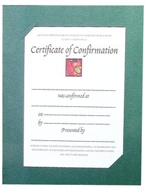 Certificate: Confirmation